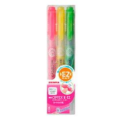 【ZEBRA 日本斑馬】WKT11-3C 3色組雙頭環保螢光記號筆