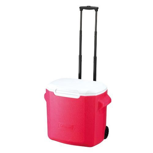 ~登山樂~美國 Coleman 26.5L拖輪置物型冰桶 粉紅 ^#CM~0028JM00