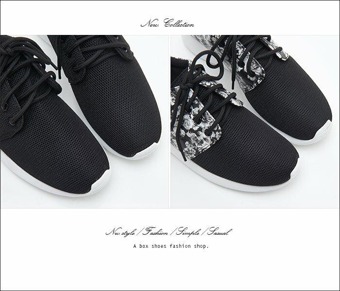 【KT951】MIT台灣製 實搭基本款 透氣網布拼接印花皮革 時尚輕旅行 舒適綁帶休閒運動鞋 2色 2