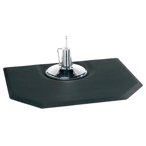 "Black 5'x4' 1/2"" Thick Barber Salon Anti Fatigue Floor Mat Beauty Supplier 0"