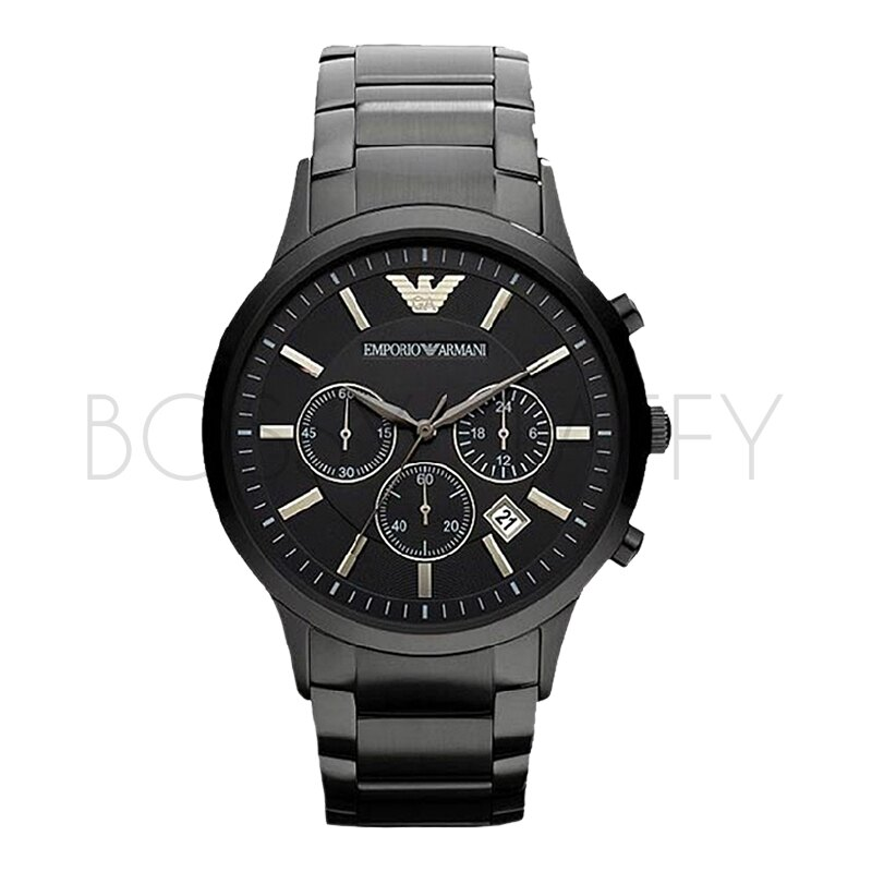 ARMANI 橡膠鋼帶多功能石英錶