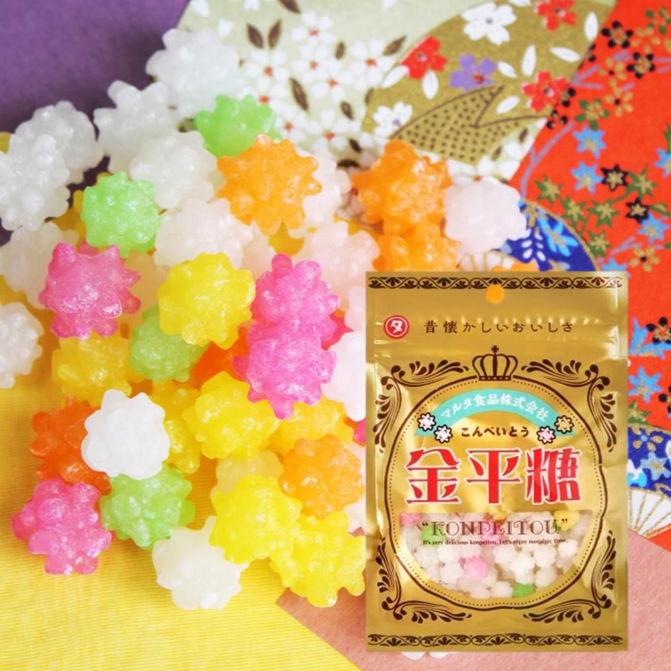 【Maruta】懷舊黃金金平糖 夾鏈袋裝 60g ゴールド金平糖 日本進口零食 0