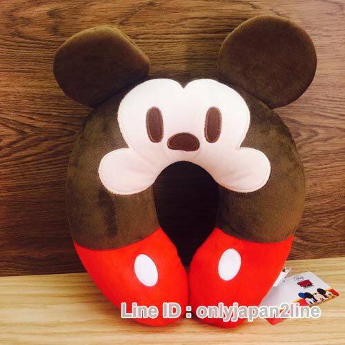 【真愛日本】16120100003造型頸枕-米奇  迪士尼 米老鼠米奇 米妮 頸枕 枕頭 居家用品 汽車用品