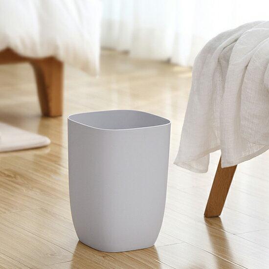 ♚MY COLOR♚簡約單層垃圾桶  家用 無蓋 客廳 衛生間 臥室 廚房 大號 辦公室 紙簍 居家用品【A26】