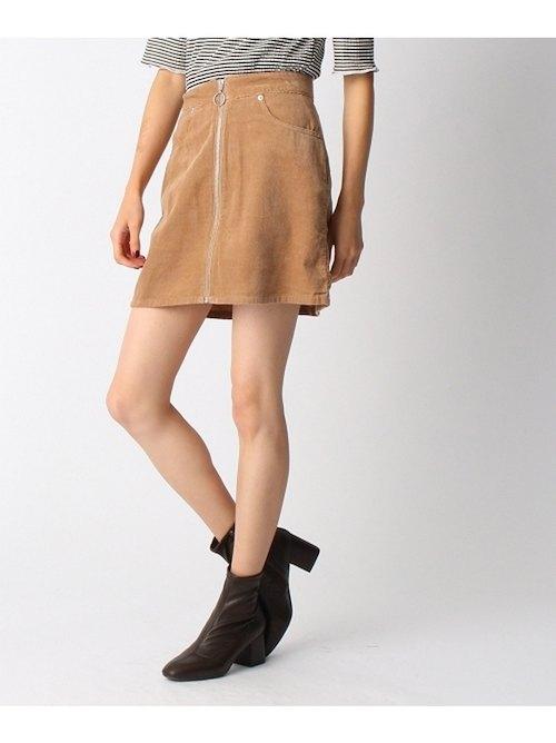 OZOC 燈芯絨梯形拉鏈迷你裙 短裙 日本必買 日本直送 代購/日貨/雜誌