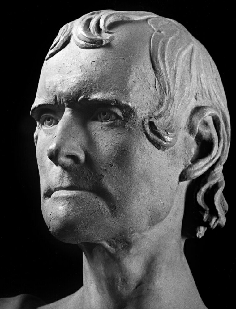 Thomas Jefferson (1743-1826) Nthird President Of The United States Bust Of Jefferson At Age 82 After The Life Mask Taken At Monticello Virginia 15 October 1825 By JHI Browere Poster Print by  (18 x 24) 0