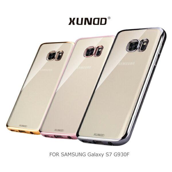 XUNDD 訊迪 Samsung Galaxy S7 / S7 Edge 爵士電鍍保護殼 保護套 透色殼 背殼