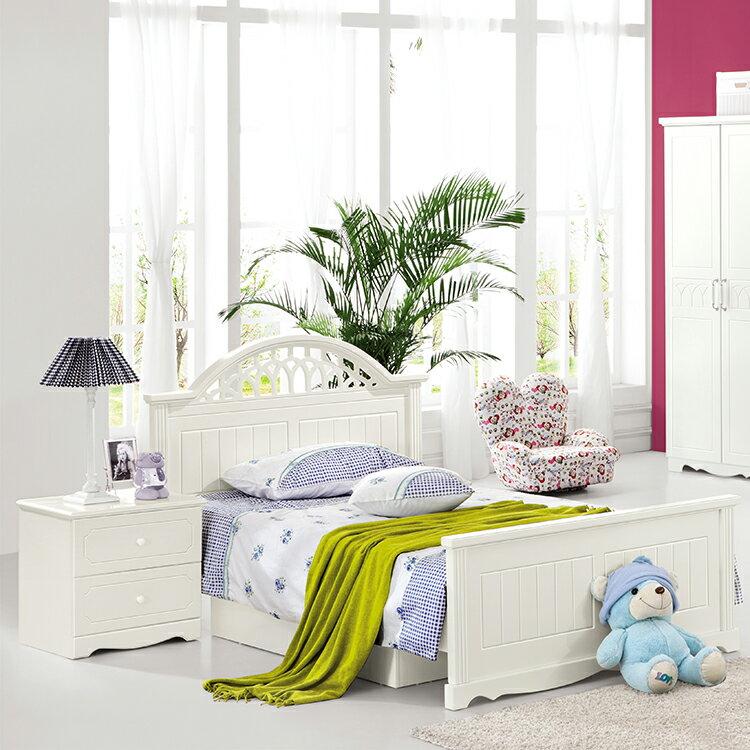 [首雅傢俬]#301雅典娜 5尺 雙人床 床架 兒童床 家具