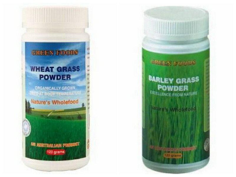 綠色生活 生機小麥草粉/生機大麥苗粉 120g/瓶 澳洲認證