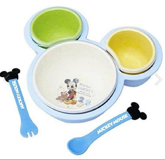 LOMO樂姆屋 ~ 日本進口 錦化成 迪士尼 兒童餐具 6 件組 彌月禮盒組