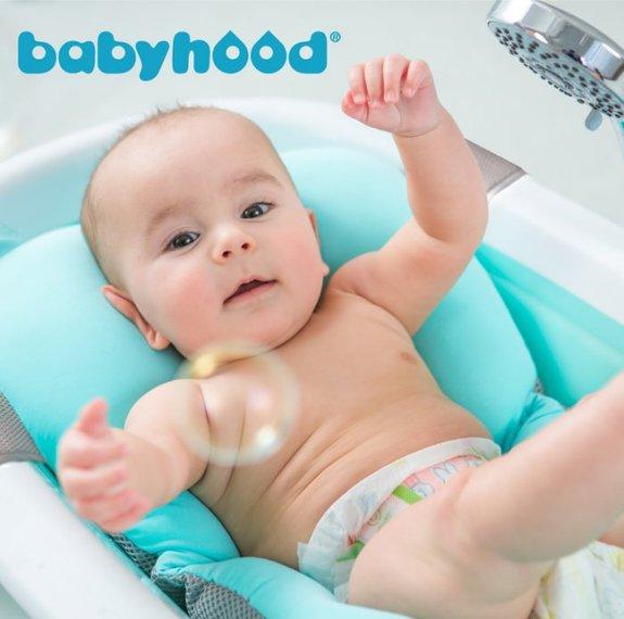 babyhood寶寶沐浴墊綠色【六甲媽咪】