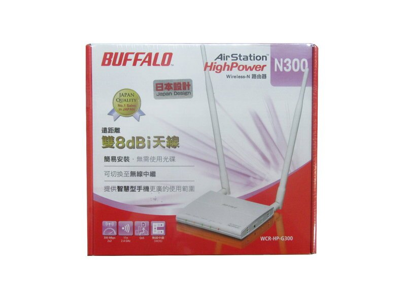 ★綠G能★Buffalo WCR-HP-G300TW 無線寬頻分享器