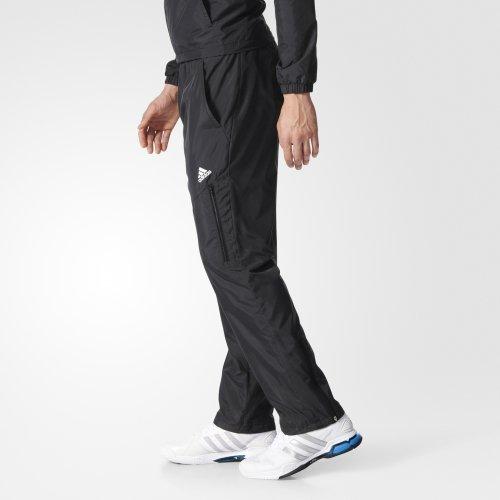 [尋寶趣]Adidas CLIMALITE 愛迪達 男 黑 白 運動長褲 透氣 風褲 AY8929