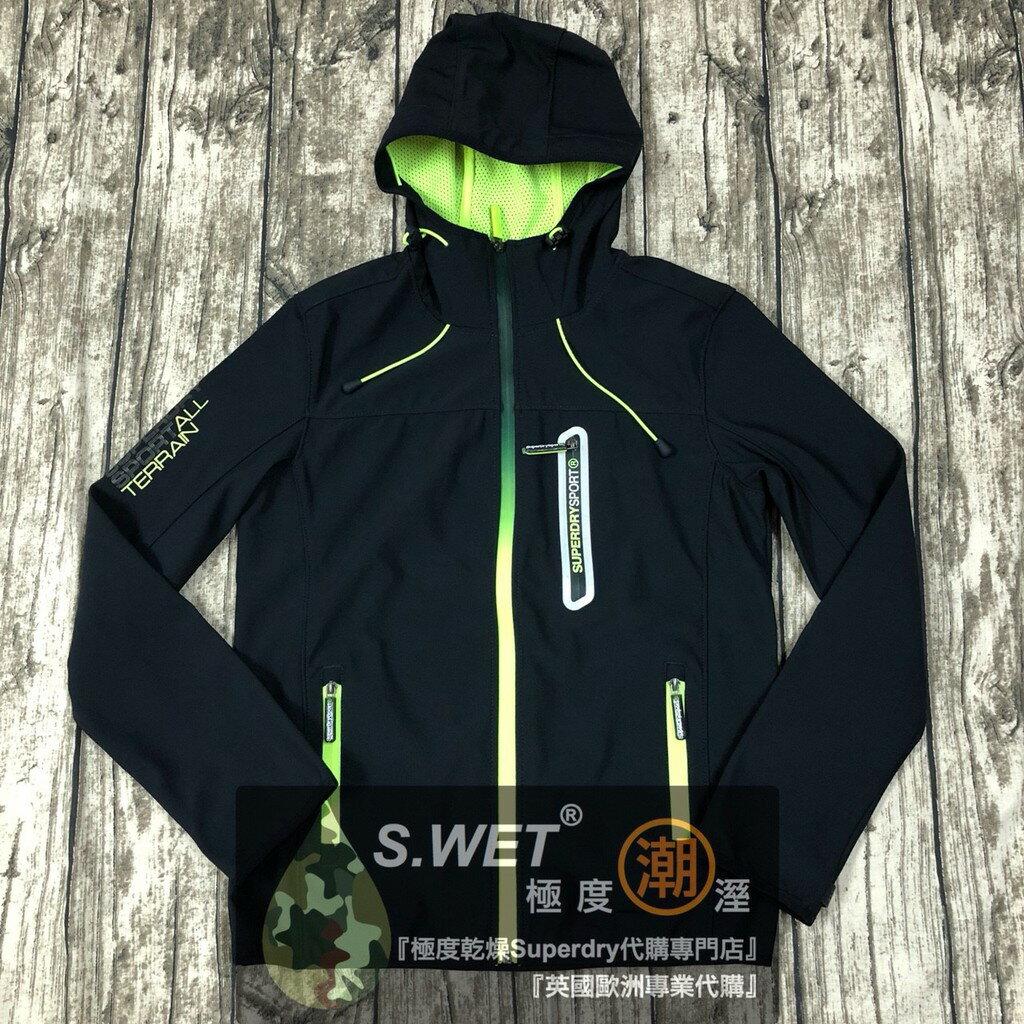 短跑者夾克 跩狗嚴選 正品 極度乾燥 Superdry Sprint 運動 風衣 外套 軟殼衣 透氣 深藍 螢光綠