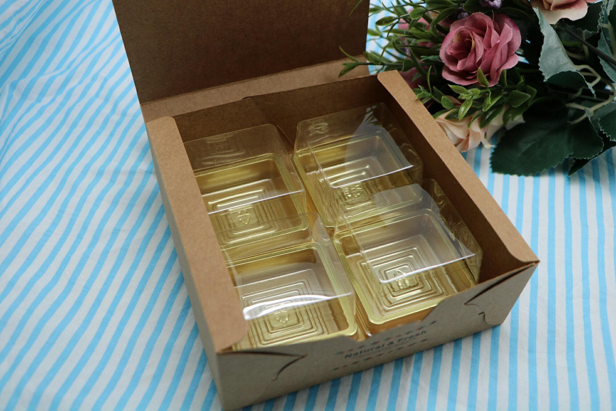 鳥語自然 DIY烘焙包裝盒套裝-四顆裝(芋頭酥/蛋黃酥/鳳梨酥/月餅)