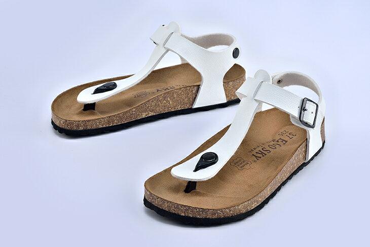 Ego Sky MIT台灣製造 後帶夾腳米糠涼鞋 女款 2
