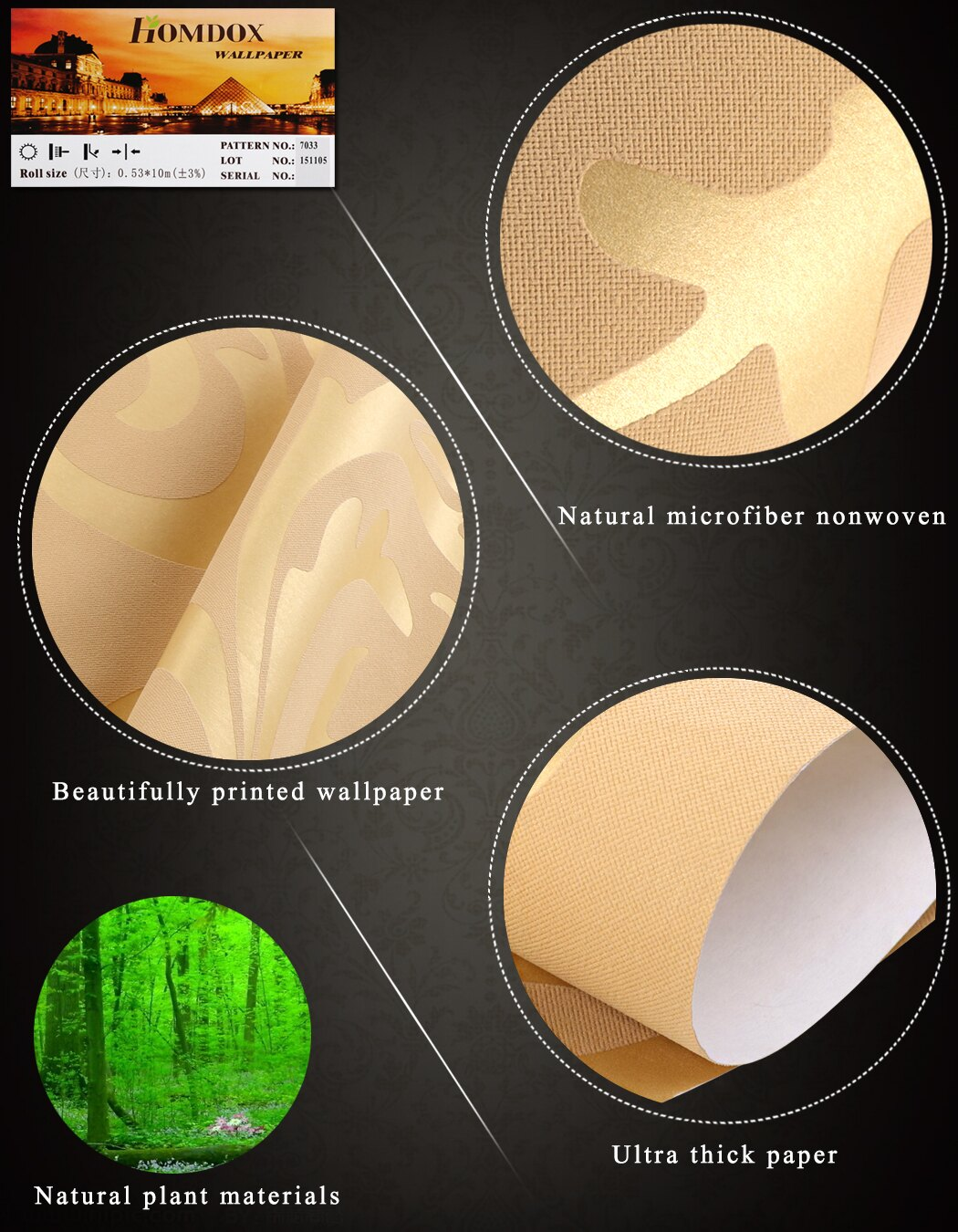 Print Embossed Non-woven 3D Rolls 10m Wallpaper Bedroom Home Wall Decor Wall Sticker 7