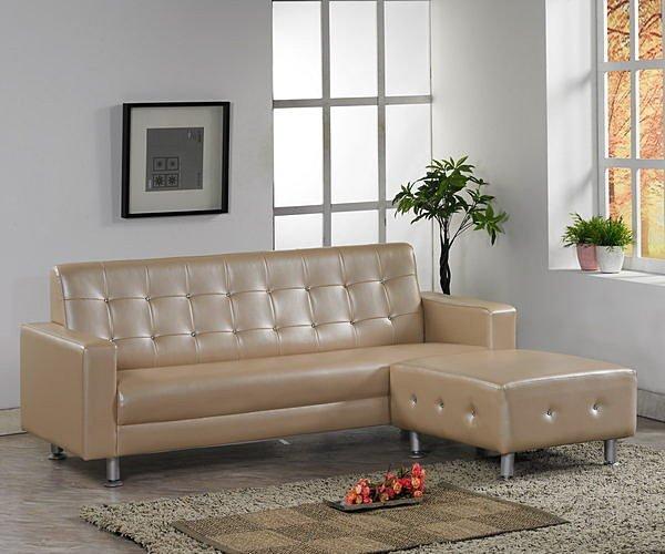【尚品家具】760-04 斯利特 L型皮沙發組(3人座+腳椅)