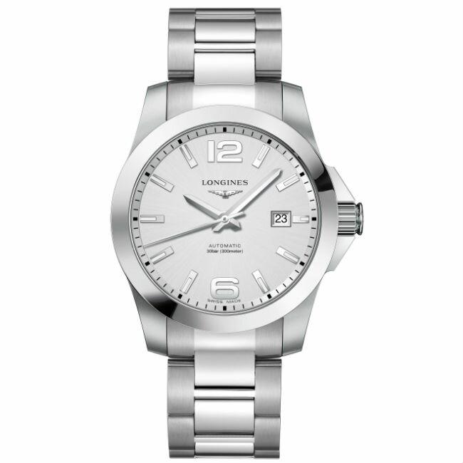 LONGINES 浪琴錶 L37774766 征服者系列 優雅經典腕錶/白面41mm