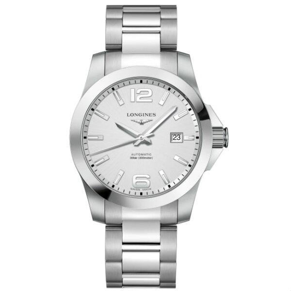 LONGINES浪琴錶L37774766征服者系列優雅經典腕錶白面41mm