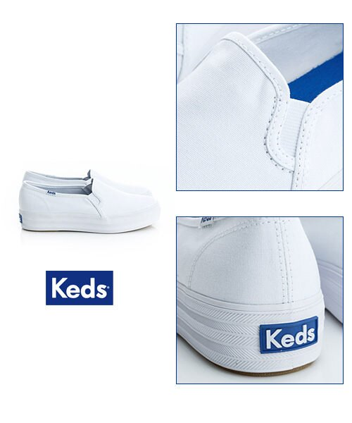 Keds 品牌經典厚底休閒便鞋(白) (限量) 套入式│懶人鞋│厚底鞋 2
