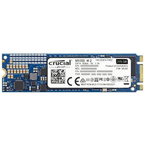 Crucial SSD MX300 M.2 2280 275GB SATA III 6Gb/s 3D NAND 80mm Internal Solid State Drive 530MB/s Maximum Read Transfer Rate 500MB/s Maximum Write Transfer Rate CT275MX300SSD4