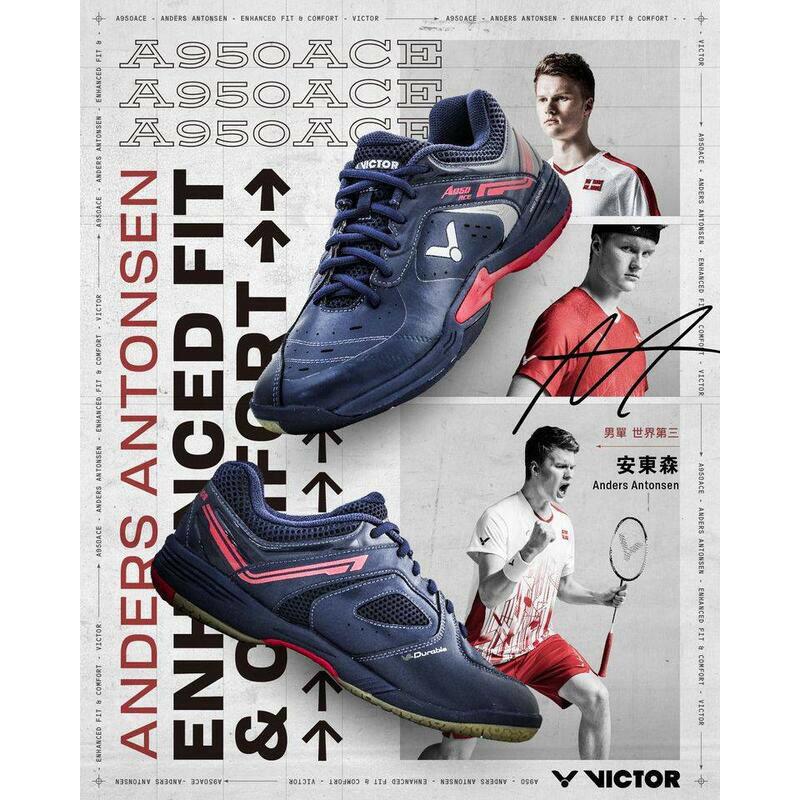[大自在體育用品] VICTOR 勝利 羽球鞋 羽毛球鞋 寬楦 安東森指定用款 SH-A950ACE