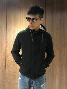 美國百分百【全新真品】ArmaniExchange連帽外套AX夾克風衣亞曼尼男黑色J134