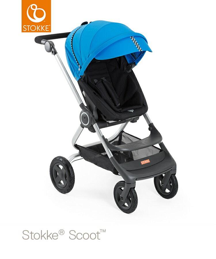 挪威【Stokke】 Scoot 推車專用套件組(賽車風格)-藍色 0
