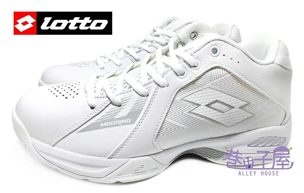 【巷子屋】義大利第一品牌-LOTTO樂得 男款刀鋒戶外籃球鞋 抓地強化版 [3509] 白 超值價$690