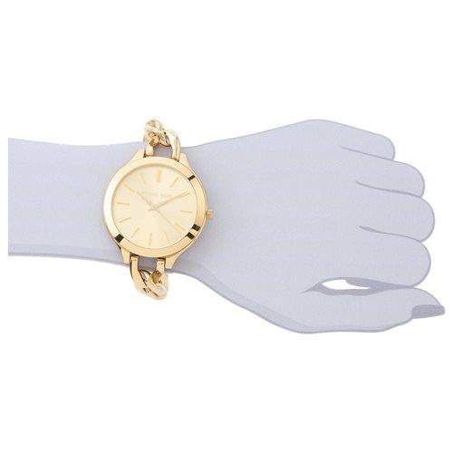 Michael Kors Slim Runaway Japanese Quartz Gold Dial Women's Watch - MK3222 3