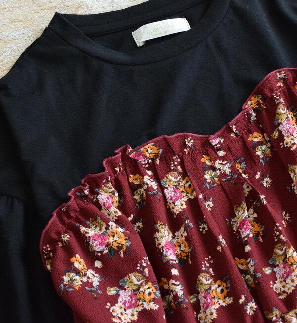 日本e-zakka / 花紋長版連衣裙 / 32603-1800946 / 日本必買 代購 / 日本樂天直送(5500) 7