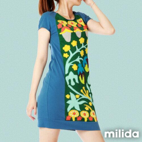 【Milida,全店七折免運】-夏季商品-拼貼款-氣質花卉圖騰 2