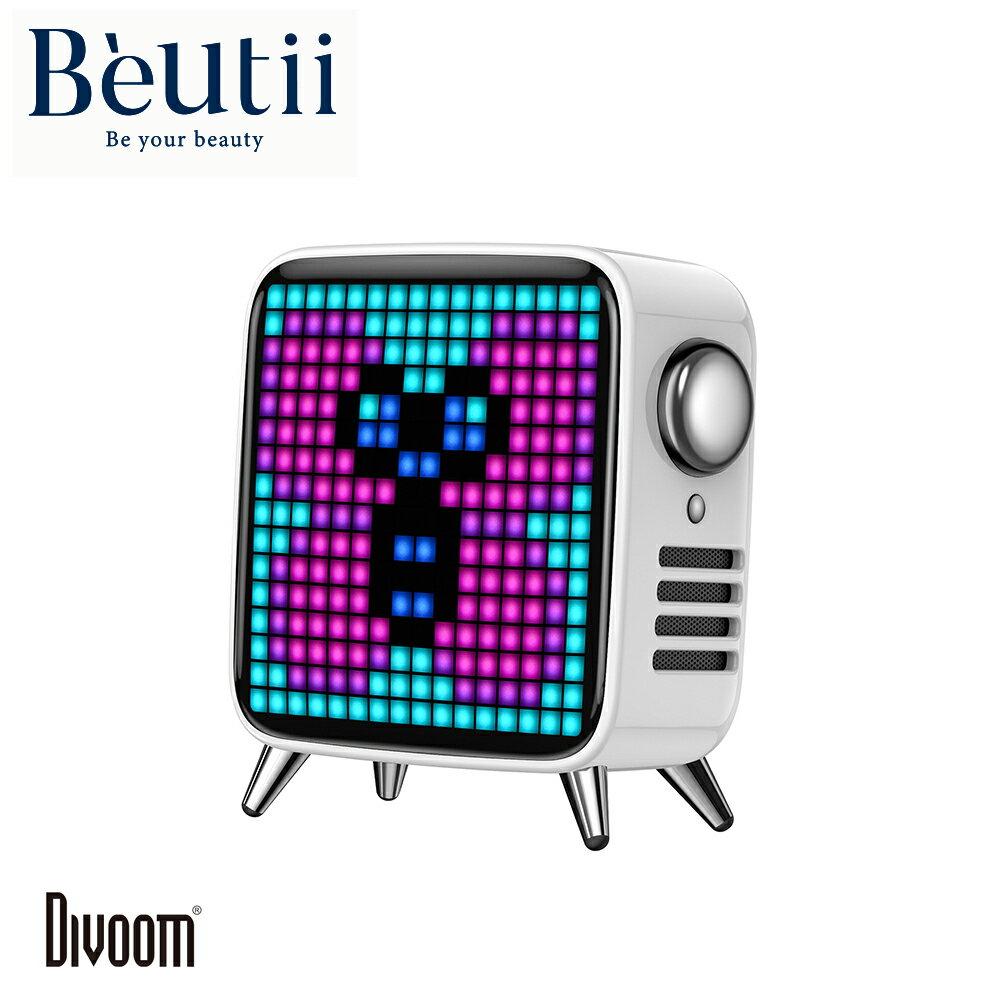 DIVOOM TIVOO MAX 藍牙喇叭 復古電視造型 藍芽 喇叭 鬧鐘 混音 LED字幕 網紅必備
