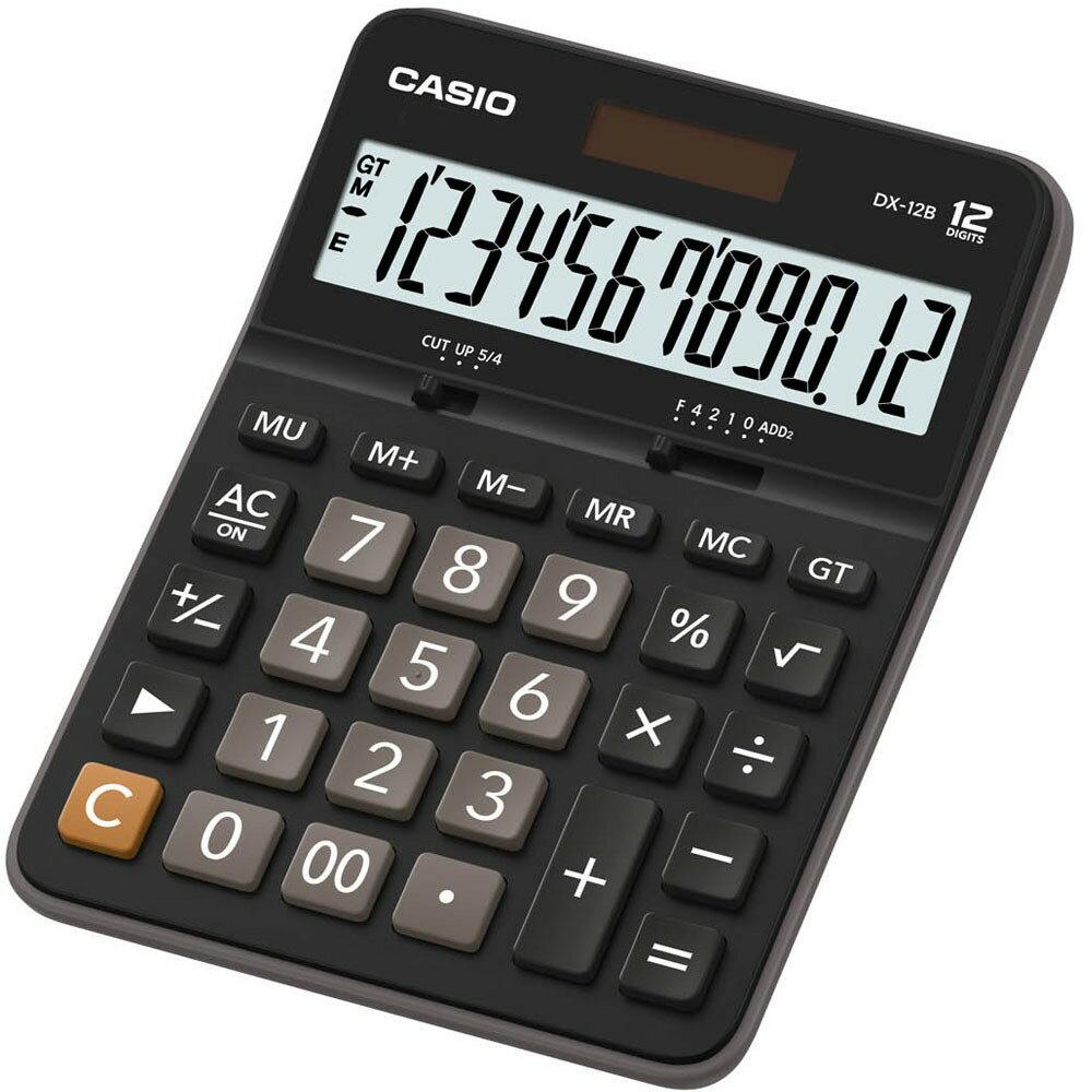 【CASIO卡西歐】【公司貨附保卡】 CASIO卡西歐 DX-12B 12位元 商用型計算機