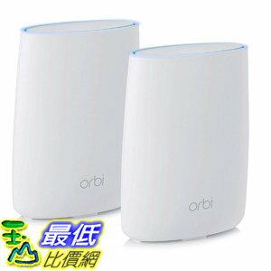 [106美國直購] 家庭WIFI系統 NETGEAR Orbi Home WiFi System: AC3000 Tri Band Home Network with Router