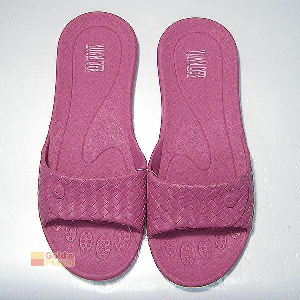BO雜貨~SV8016~一體成型平底拖鞋 編織皮紋家居拖鞋 防滑塑料家居拖鞋 防滑浴室拖鞋