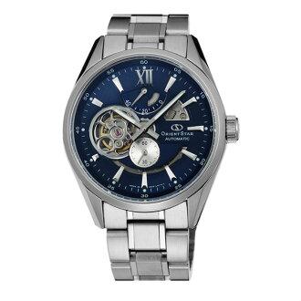 Orient 東方錶(SDK05002D)東方之星OPEN HEART系列鏤空機械錶/藍面41mm