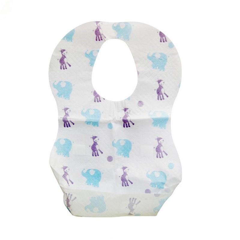 升級三層防水拋棄式圍兜  一包10入 口水巾 吃飯兜 一次性圍兜 餐巾紙 0