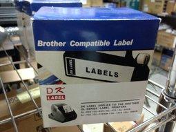 台灣兄弟國際資訊:brotherDK-11202副廠定型標籤帶~62mmx100mm*300張