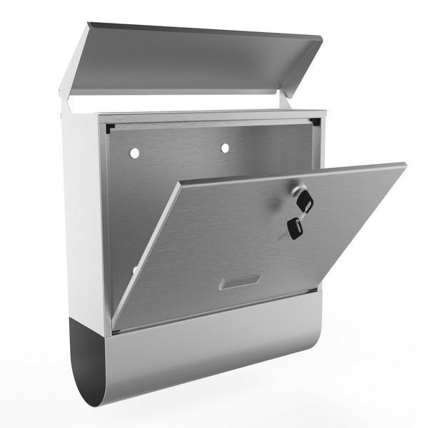 Stainless Steel Mailbox Wall Mount Letterbox Large Size 0