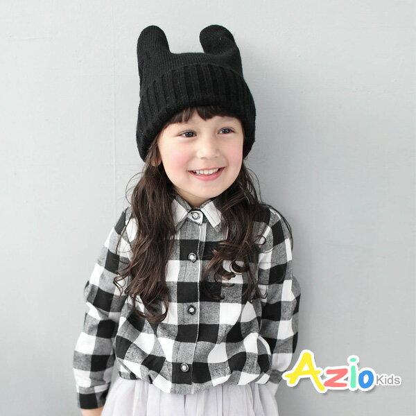 Azio Kids美國派:《AzioKids美國派童裝》上衣黑白格抓摺縮口棉質上衣