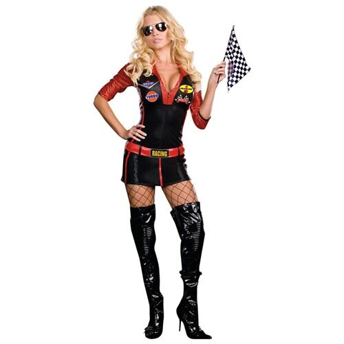 Sexy Ride It Race Car Girl Adult Costume 0