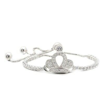 ~925純銀手鍊 鑲鑽手環~ 氣質 皇冠情人節生日 女飾品73dl55~ ~~米蘭 ~