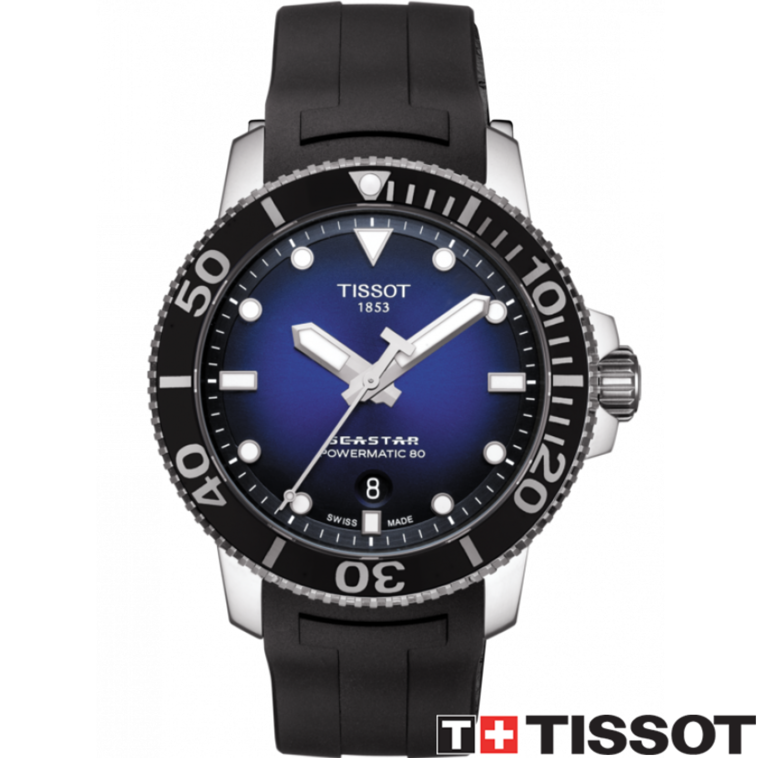 TISSOT 天梭錶 SEASTAR 1000海洋之星300米潛水機械錶T1204071704100藍x黑 / 43mm 0