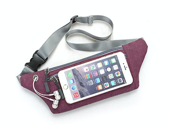 【宸豐光電】腰包,多功能帆布腰包附耳機孔兩拉鍊。戶外活動手機包。貼身防盜包、運動腰包 5