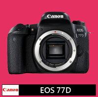 Canon數位相機推薦到Canon EOS  77D單機身★(公司貨)★8/31前登錄送:原廠電池+SanDisk Extreme SD 64G 90Mb/s V30記憶卡就在富士通影音器材有限公司推薦Canon數位相機