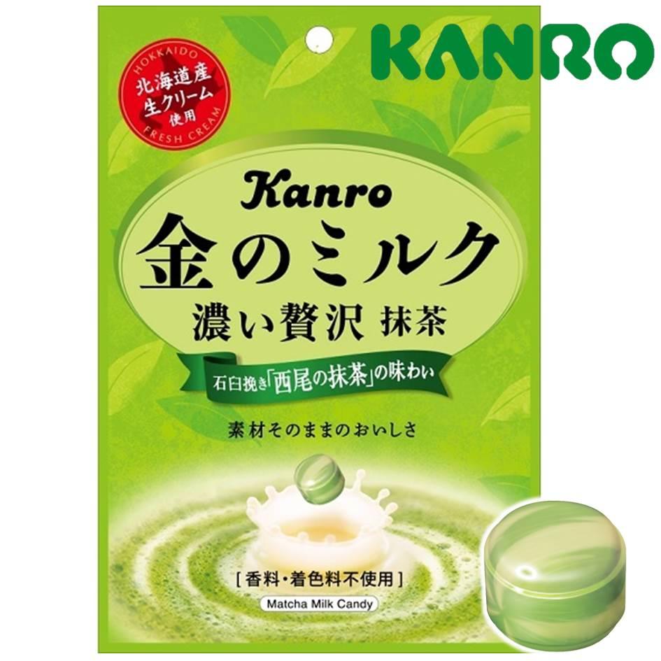 【KANRO甘樂】贅澤濃郁金抹茶牛奶糖 70g 石臼研磨西尾抹茶使用 金のミルクキャンディ 抹茶 日本進口糖果 0