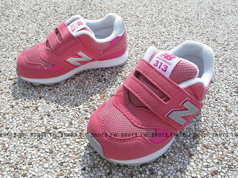 Shoestw【FS313PNI】NEW BALANCE 313 學布鞋 童鞋 運動鞋 小童 粉紅色 銀N