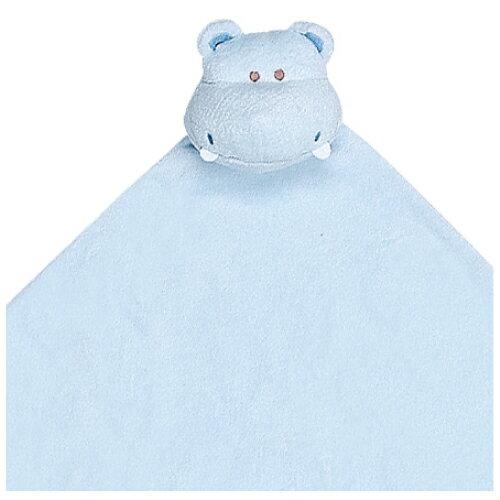『121婦嬰用品館』美國Angel Dear 大頭動物嬰兒毛毯 河馬(藍)AD2041(此商品售出不做退換) 1